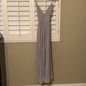 Lulus grey maxi dress/ bridesmaid dress
